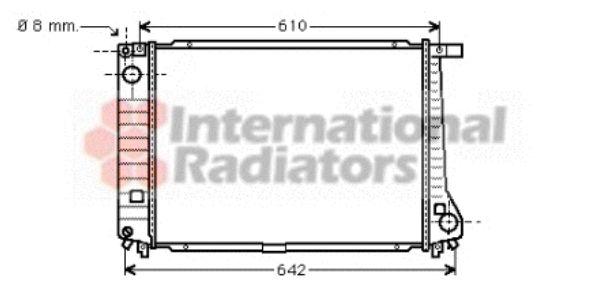 Radiateur, refroidissement du moteur - VAN WEZEL - 06002104