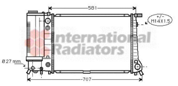 Radiateur, refroidissement du moteur - VWA - 88VWA06002105