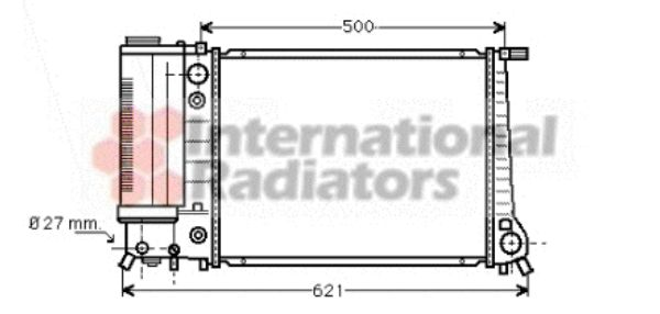 Radiateur, refroidissement du moteur - VAN WEZEL - 06002106