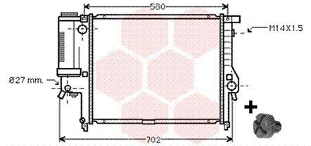 Radiateur, refroidissement du moteur - VAN WEZEL - 06002121