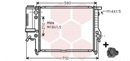 Radiateur, refroidissement du moteur - VAN WEZEL - 06002122
