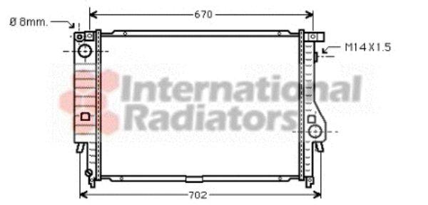 Radiateur, refroidissement du moteur - VAN WEZEL - 06002128