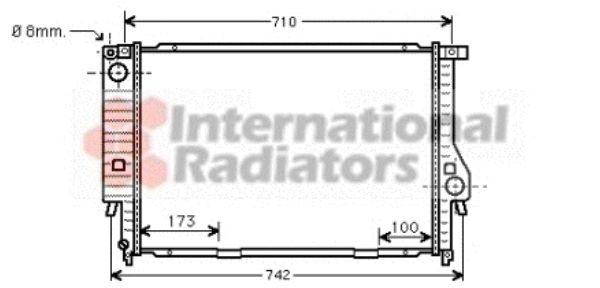 Radiateur, refroidissement du moteur - VAN WEZEL - 06002133