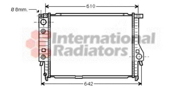 Radiateur, refroidissement du moteur - VAN WEZEL - 06002136