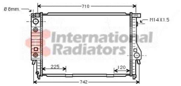 Radiateur, refroidissement du moteur - VAN WEZEL - 06002145