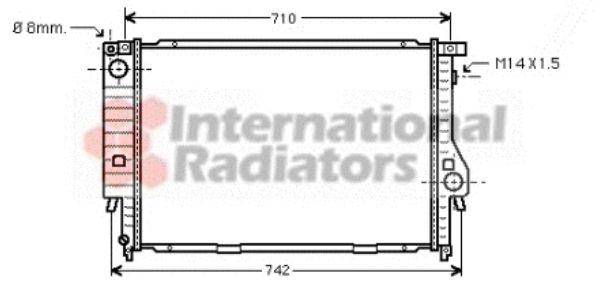 Radiateur, refroidissement du moteur - VAN WEZEL - 06002164