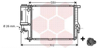Radiateur, refroidissement du moteur - VWA - 88VWA06002201