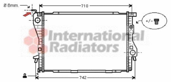 Radiateur, refroidissement du moteur - VAN WEZEL - 06002202