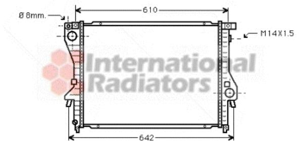 Radiateur, refroidissement du moteur - VWA - 88VWA06002222
