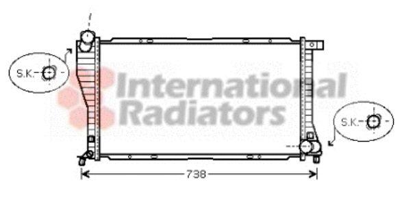 Radiateur, refroidissement du moteur - VAN WEZEL - 06002234