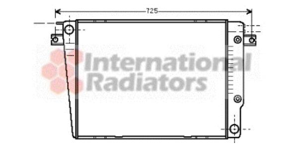 Radiateur, refroidissement du moteur - VAN WEZEL - 06002251