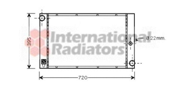 Radiateur, refroidissement du moteur - VWA - 88VWA06002277