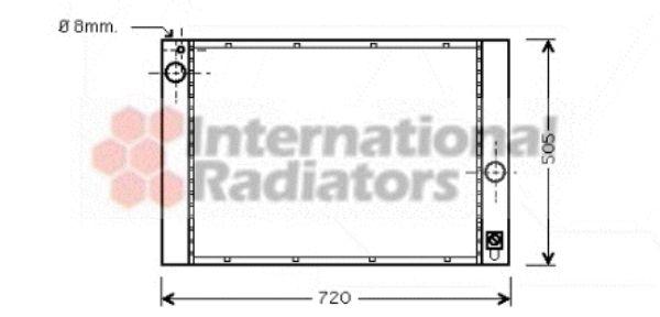 Radiateur, refroidissement du moteur - VWA - 88VWA06002283