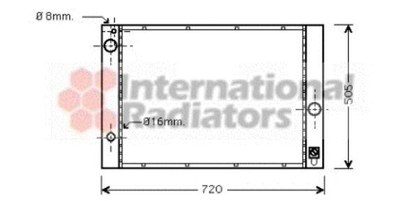 Radiateur, refroidissement du moteur - VAN WEZEL - 06002285