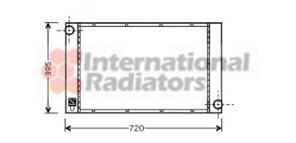 Radiateur, refroidissement du moteur - VAN WEZEL - 06002287