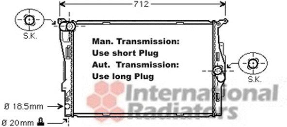 Radiateur, refroidissement du moteur - VAN WEZEL - 06002292