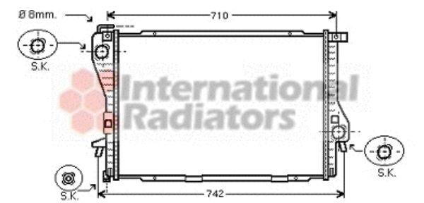 Radiateur, refroidissement du moteur - VWA - 88VWA06002301