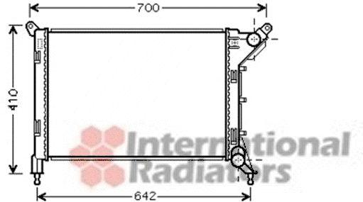 Radiateur, refroidissement du moteur - VAN WEZEL - 06002310