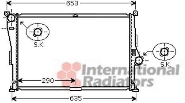 Radiateur, refroidissement du moteur - VWA - 88VWA06002335