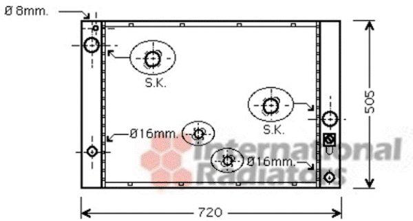 Radiateur, refroidissement du moteur - VAN WEZEL - 06002338