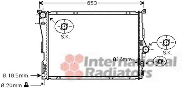 Radiateur, refroidissement du moteur - VAN WEZEL - 06002343