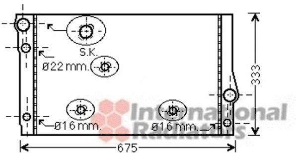 Radiateur, refroidissement du moteur - VAN WEZEL - 06002354
