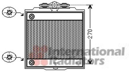 Radiateur, refroidissement du moteur - VAN WEZEL - 06002366