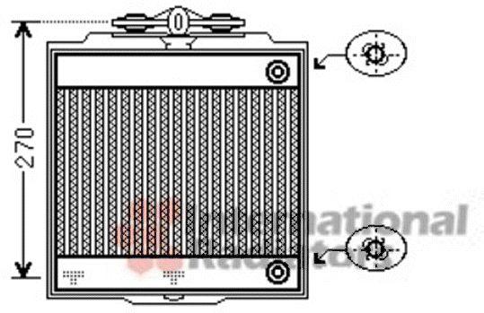 Radiateur, refroidissement du moteur - VAN WEZEL - 06002367