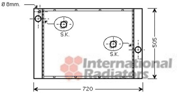 Radiateur, refroidissement du moteur - VAN WEZEL - 06002372
