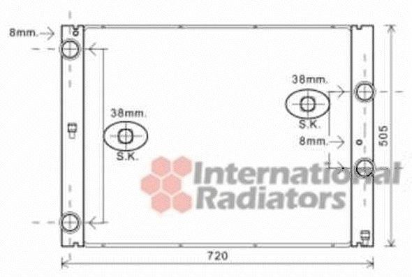 Radiateur, refroidissement du moteur - VAN WEZEL - 06002404
