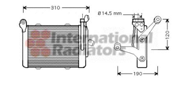 Radiateur d'huile - VAN WEZEL - 06003255
