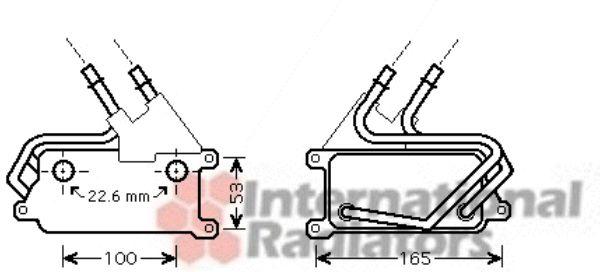 Radiateur d'huile - VAN WEZEL - 06003315