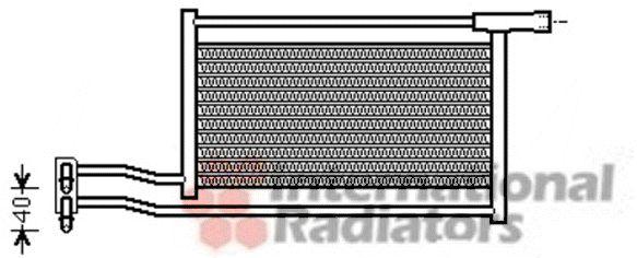 Radiateur d'huile - VAN WEZEL - 06003379