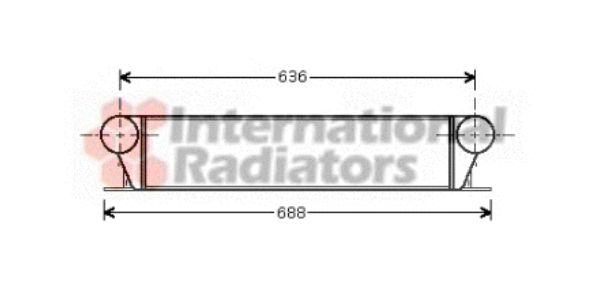 Intercooler, échangeur - VAN WEZEL - 06004253