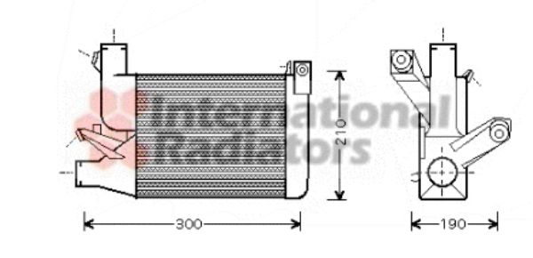 Intercooler, échangeur - VWA - 88VWA06004260