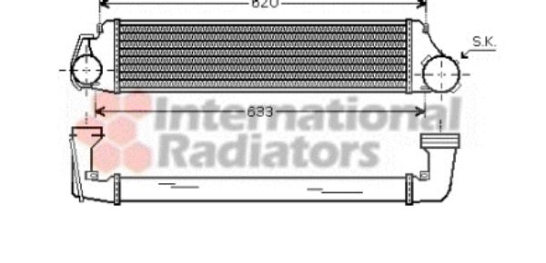 Intercooler, échangeur - VAN WEZEL - 06004282
