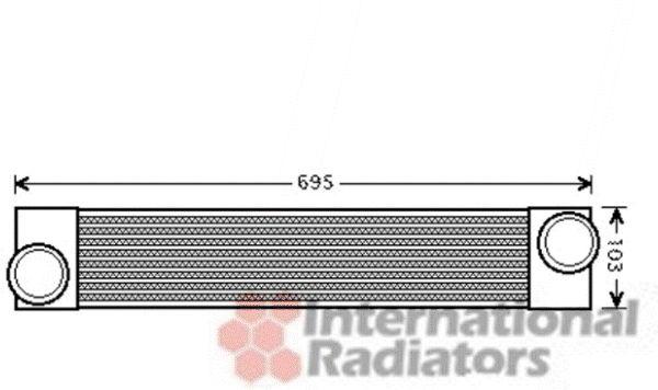 Intercooler, échangeur - VAN WEZEL - 06004346