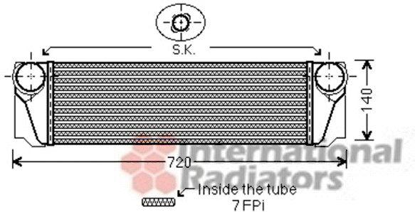 Intercooler, échangeur - VAN WEZEL - 06004376