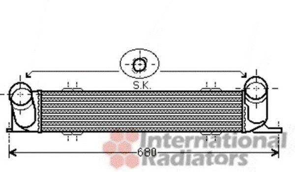 Intercooler, échangeur - VAN WEZEL - 06004378