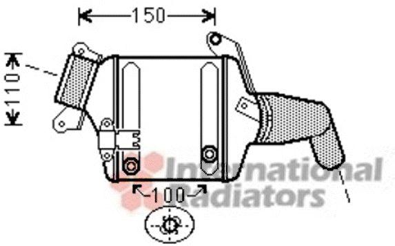 Intercooler, échangeur - VWA - 88VWA06004380