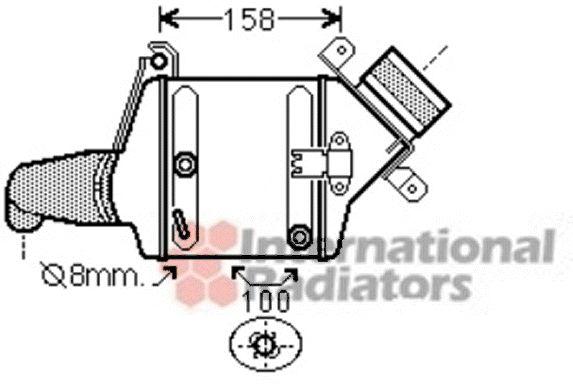 Intercooler, échangeur - VAN WEZEL - 06004381
