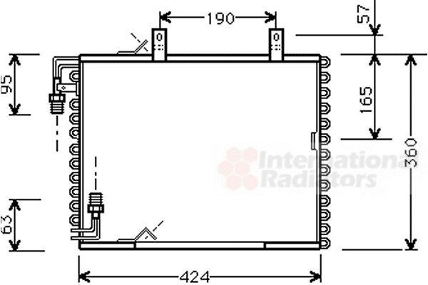 Condenseur, climatisation - VWA - 88VWA06005147
