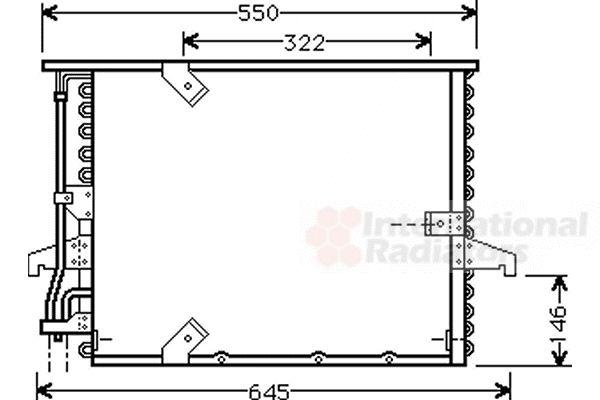 Condenseur, climatisation - VWA - 88VWA06005180