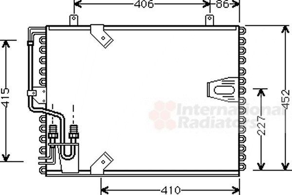 Condenseur, climatisation - VAN WEZEL - 06005183