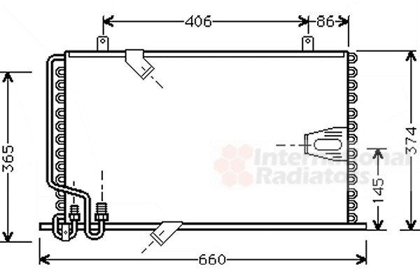 Condenseur, climatisation - VAN WEZEL - 06005184