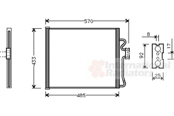 Condenseur, climatisation - VWA - 88VWA06005185