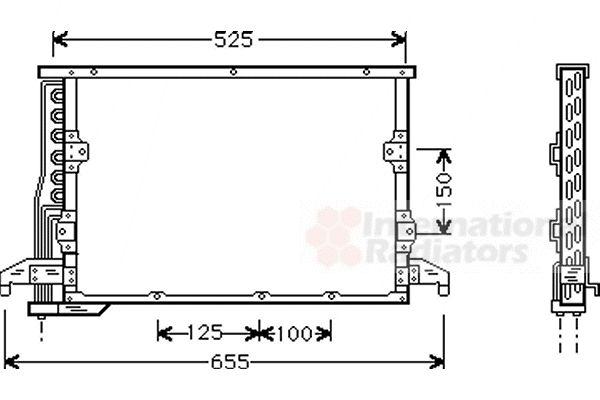 Condenseur, climatisation - VAN WEZEL - 06005190