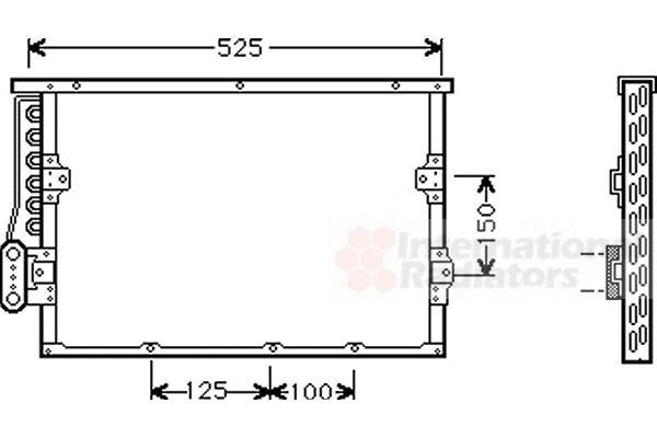 Condenseur, climatisation - VWA - 88VWA06005191