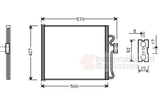 Condenseur, climatisation - VWA - 88VWA06005192