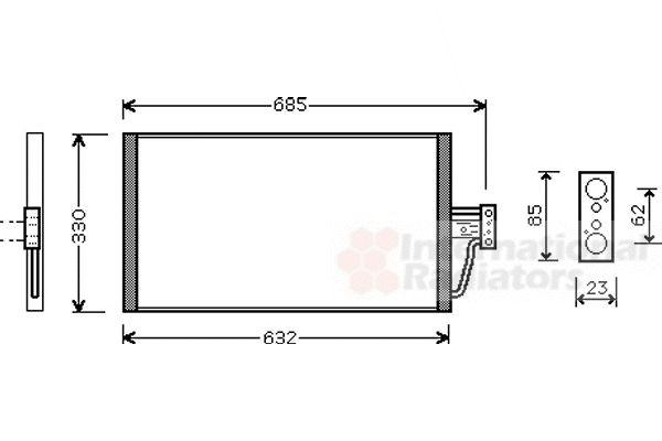 Condenseur, climatisation - VWA - 88VWA06005254